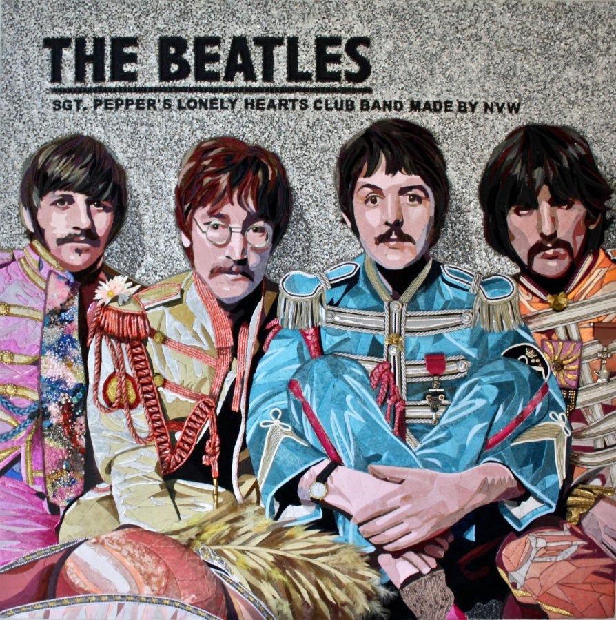"Ringo, John, Paul, George ""THE BEATLES"" (120 CM X 120 CM)"